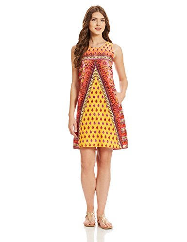 global desi Women's Cotton Shift Dress (SB25004-DR-925_Prnt_M)