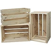 decowood handmade natural cajas grandes madera beige 49x305x255 cm - Cajas De Madera De Fruta