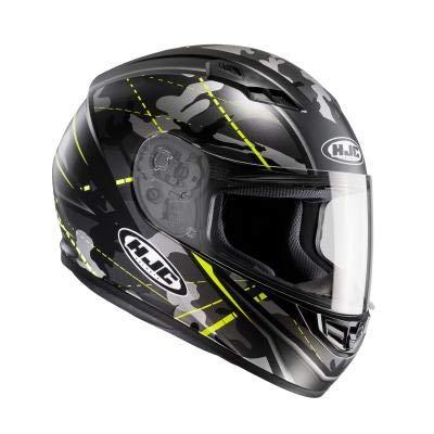 Preisvergleich Produktbild HJC 101674 X XL Helm Motorrad, Schwarz/Neongelb, XXL