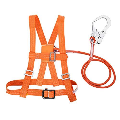 Kit di imbracature di sicurezza, imbracatura anticaduta di sicurezza, imbracatura di sicurezza regolabile Cintura di sicurezza Corda di salvataggio lavoro aereo Cintura di sicurezza(Big Buckle 5m)