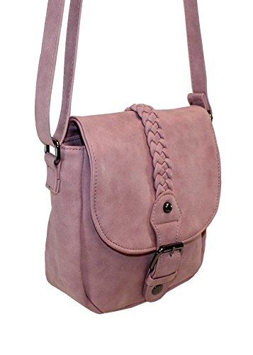 New Bags Kleine Damen Handtasche Ausgehtasche Umhängetasche rosa