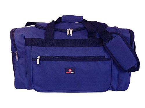 Roamlite borsone weekend medio grande – perfetto per viaggi, weekend, calcio, palestra, gita – design minimal e unisex – multi tasche - volume 50 l peso 0.8kg - misure 55 x 31 x 31cm - rl57n (blu)