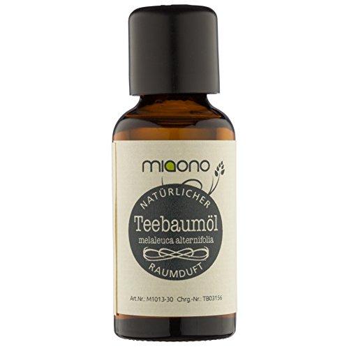Teebaumöl - 100% naturreines, ätherisches Öl (30ml) von miaono (Glasflasche) - Natürliche Jojoba-shampoo