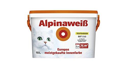 Preisvergleich Produktbild ALPINAWEIß Alpina weiß matt, perfekt deckende Innenfarbe, 10 L. NEU