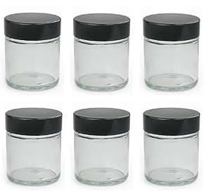 klein 30ml durchsichtig glas salbe d schen packung mit 6. Black Bedroom Furniture Sets. Home Design Ideas