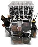 Oi LabelsTM rotatif à rouge à lèvres en acrylique Transparent/maquillage/cosmétiques/bijoux/organiseur de vernis à ongles avec Présentoir acrylique 3 mm de grande qualité.