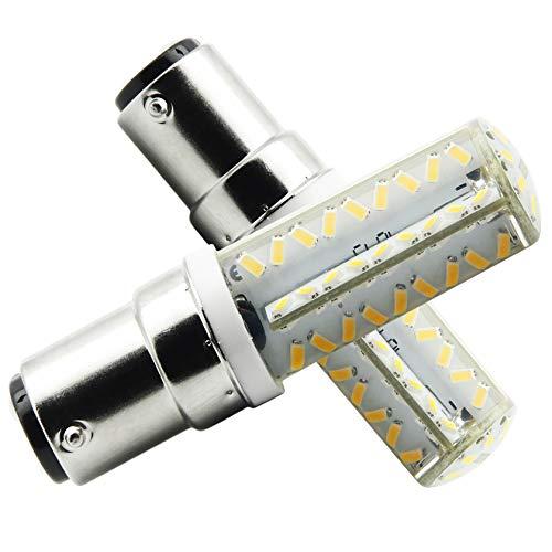 B15D-LED-Lampe-Glühlampe-5W, B15D LED Leuchtmittel, Nicht-Dimmbar, 450Lumen, 12V AC, 360 Grad Winkel, CRI> 80Ra, Warm Weiß 3000K, Ersatz für 50W B15D Halogenlampen(2er Pack) - 24 Volt 70 Watt Glühbirne
