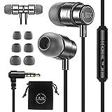 ULIX RIDER Hörlurar in-ear hörlurar, 3 års garanti, med anti-trassel, förstärkt kabel, mikrofon, superbeständig, 48 Ω drivrut