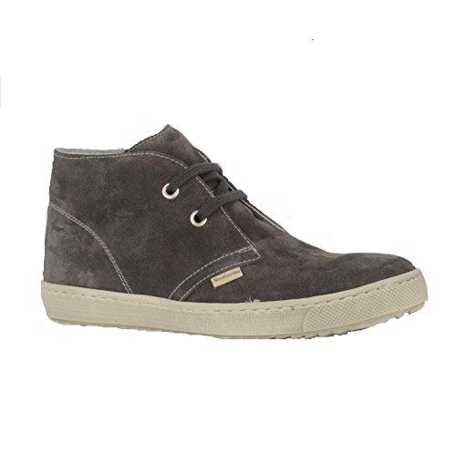 Nero Giardini Junior , Chaussures de ville à lacets pour garçon Gris Grigio Gris - Grigio (Velour Carbone)