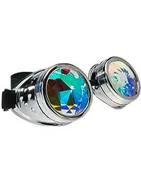 e560f421399a48 4sold Kaléidoscope Cyber Steampunk Lunettes de Natation Rave Vintage Style  Victorien Gothique comme Lunettes de Soleil