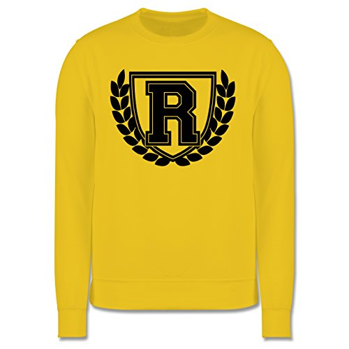 Anfangsbuchstaben - R Collegestyle - Herren Premium Pullover Gelb