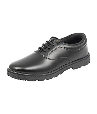 Lakhani Black School Shoes for Boys (All Size Available) (Size 1 UK / Age 7-8Yrs)