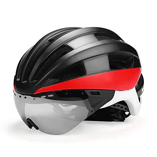 Cycle Bike Helme,CE Zertifiziert, Radfahren Helm mit Abnehmbaren Magnet Brillen Visier Shield Verstellbar Unisex Herren Damen Road Mountain Sicherheit Schutz Radfahren Fahrrad Helm