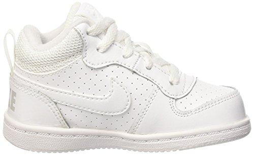 Nike Court Borough Mid (Td), Sneakers basses mixte bébé Blanc