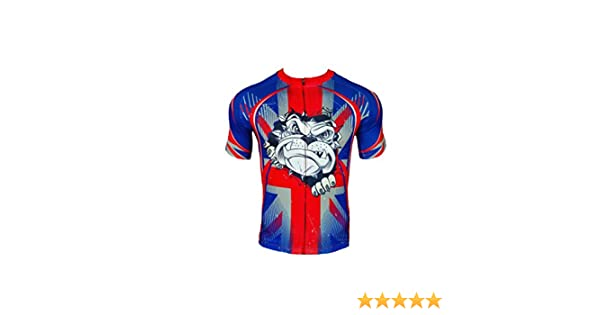 BSK BRITISH BULLDOG Union Jack Flag Great Britain Short Sleeve Cycling  Jersey Cycle Shirt Top  Amazon.co.uk  Sports   Outdoors 33b79561f