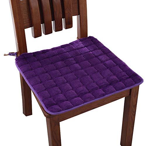 display08 Sitzkissen zum Anbinden, warm, für Esszimmer, Küche, Büro, Student, Stuhl, Kissen, Polyester, weinrot, Square 40 * 40cm