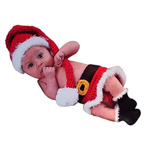 tografie Requisiten Baby Weihnachten Elf Hut Rock Stiefel Schuhe Set Handgemachte Häkeln Gestrickt Santa Claus Outfit Kostüm ()