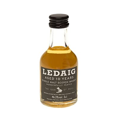Ledaig 10 year old Peated Single Malt Scotch Whisky 5cl Miniature from Ledaig