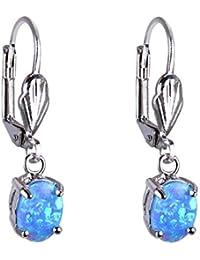 1 par de 5 mm azules Swarovski cristal imán Fake pendientes piercing