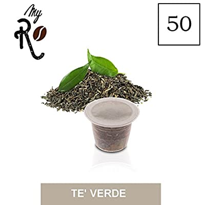 50 Capsules compatibles Nespresso - Thé vert - MyRistretto - FRHOME