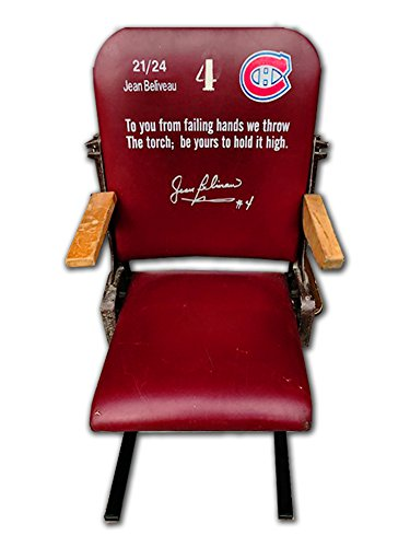 Generic Montreal Forum Seat Limited Ed /24, Signed by Jean Beliveau - Canadiens -