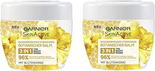 Garnier Botanischer Balm 3-in-1 Tages-, Nachtpflege und Maske mit Blütenhonig, schützt, pflegt und...