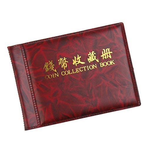 Buch Penny Sammlung (Jooks Geldtasche Speichermuenzenalbum Buch 60 Halter Sammlung Weinrot)
