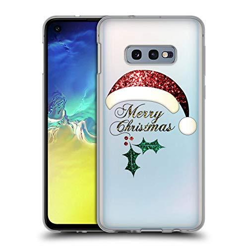 Head Case Designs Offizielle PLdesign Santa Hut Weihnachten Soft Gel Hülle für Samsung Galaxy S10e (Santa Hut Weihnachten)
