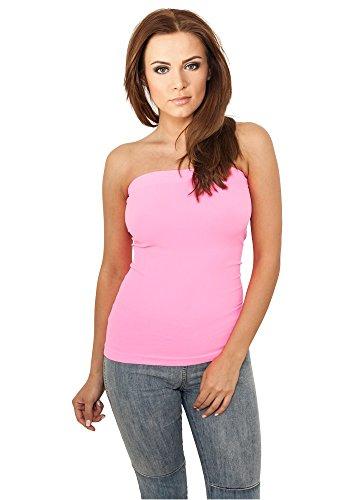 Strapless Rose (Urban Classics Ladies Neon Strapless Top, Farbe neonpink, Größe XL)
