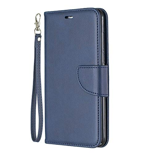 Lomogo Huawei Y7 2018 / Y7 Prime 2018 Case Leather Wallet Case with Kickstand Card Holder Shockproof Flip Case Cover for Huawei Y7 2018 / Honor 7C - LOBFE150257 Blue