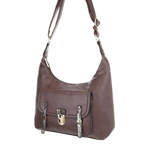 Taschen Handtasche In Used Optik Braun