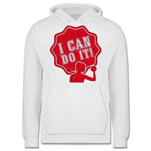CrossFit & Workout - I can do it! Frau - Männer Premium Kapuzenpullover / Hoodie Weiß