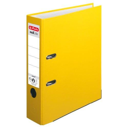 Preisvergleich Produktbild Herlitz 5481304 Ordner maX.file protect A4 (8 cm mit Einsteckrückenschild) gelb
