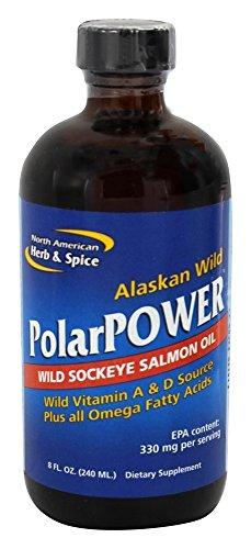 North american herb & spice - olio selvaggio d'alasca dei salmoni di sockeye di alimentazione di polar - 8 oncia.