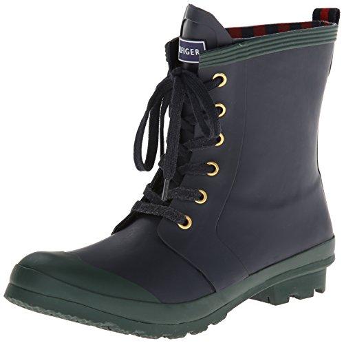 Tommy Hilfiger Women's Renegade Rain Boot, Navy, 10 M US image