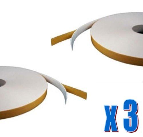 3-x-doppelseitiges-schaumstoff-klebeband-weiss-1-mm-x-10-mm-x-50-m-sicherheit-verglasung-craft-tape