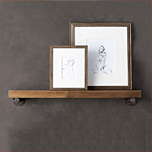 b54619151d6e Wall Shelves - Estante de Pared de Madera sólida Marco de exhibición Retro  Creativo Salón Cocina Dormitorio Decoración Rack Home Decor Storage ...