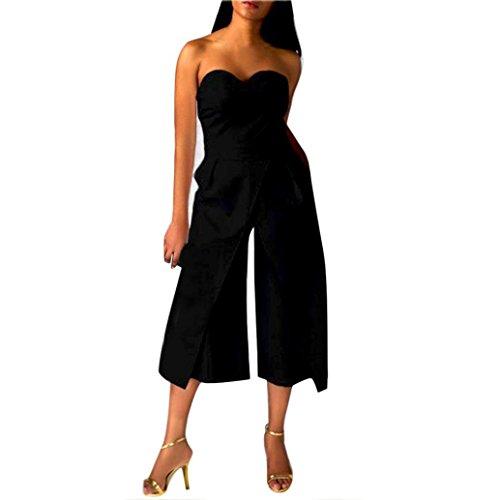 """DOLDOA Frauen Damen Clubwear Spielanzug Reception Jumpsuit Ärmellose Hose (Größe: M Fehlschlag: 76-86cm / 29.9-33.9 """", Schwarz)"""