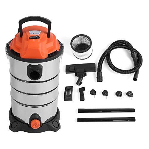 Ausla Aspiradores líquidos sólidos, 30 L, 1200 W, Limpiador en seco y húmedo, Aspirador de Acero...