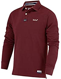 Stallion Herren Langarm Poloshirt   Golf Sport Stilvolle Slim Fit Polohemd  für Männer (Navy Blau, weinrot, Weiß… 49770f25d6