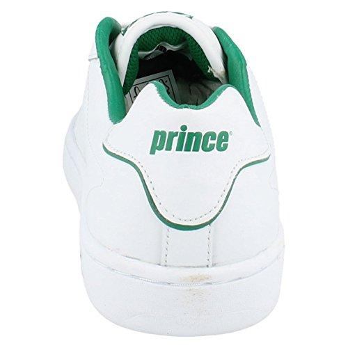 Prince en cuir pour homme classic - Blanc/vert