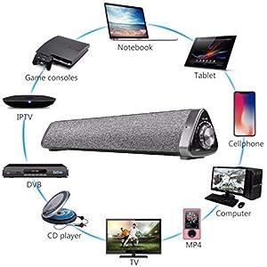 Dkings SoundBar TV Doppelter Lautsprecher Drahtloser Bluetooth Heimkino-Lautsprecher Bluetooth V5.0, Solo-TV-Soundsystem mit Universal-Fernbedienung Drahtloser Bluetooth Heimkino-Lautsprecher