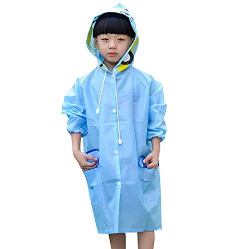 Zhen+ Regenjacken Unisex Wasserdicht Leicht Regenmantel Regenponcho Outdoor Regen Overall mit Tiermuster Kapuze für Jungen Mädchen