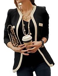 Coffeetime-Fashion Temperament Spell Farbe Langarm Slim Small Blazer