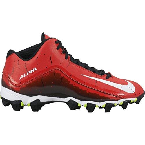 Alpha Shark 2 a tre quarti di gioco del calcio tacchetto nero / antracite / bianco Size 6.5 M Us Rosso (University Red)/Nero/Bianco