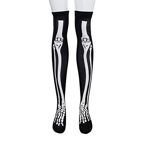 ODJOY-FAN 1 paio donne halloween vento calze alte alla coscia sul ginocchio-1 di costumi sanguinosa sangue al ginocchio autoreggenti cosplay costume notti dell'orrore puntelli del partito