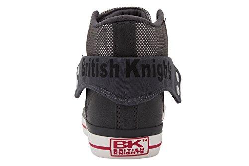 British Knights Roco - Tennis montantes - femme Gris foncé/rose
