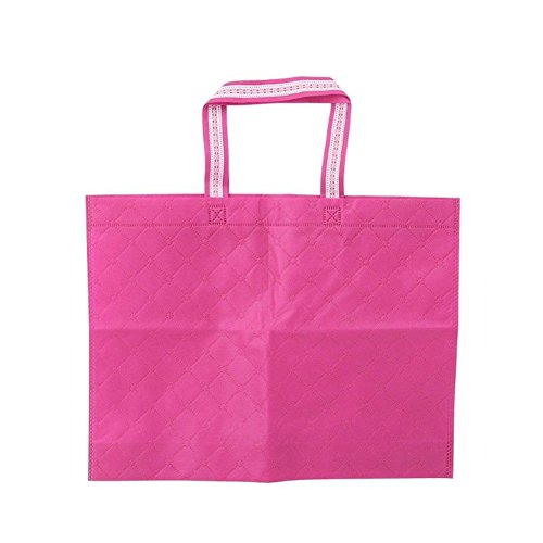 good01 pliable réutilisable Grande contenance supermarché respectueux de l'environnement Sac fourre-tout, rose rouge, M