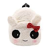 Elonglin Cute Small Toddler Kids Backpack Plush Animal Cartoon Mini Children Bag for Baby Girl Boy Age 1-3 Years Schoolbag Child Lightweight Strap Rucksack Daypack Travel Shopping Panda With Bowkno