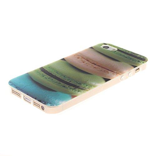 iPhone 5S Etui, Coque Case de Protection pour Apple iPhone 5 5S / iPhone SE Anti Choc, Très Mince Poids Léger TPU Joli Coloré Peinture Motif Serie - Lion noir Color-1